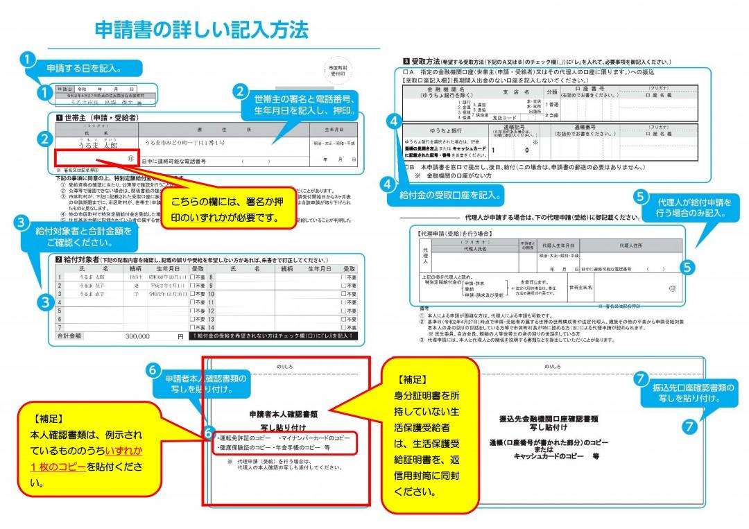 書類 書類 金 確認 給付 本人 申請